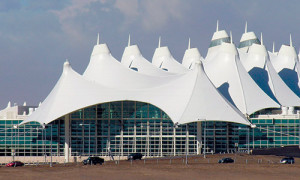 Photograph of the Denver International Airport.